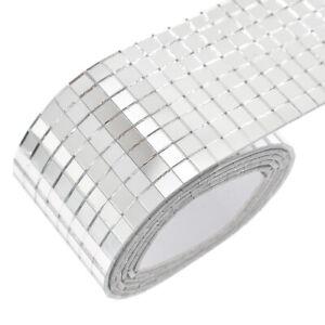 100x4cm-Self-Adhesive-Glass-Mosaic-Sticker-Mini-Square-Mirror-Tiles-Sheet-DIY