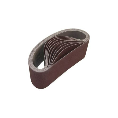 ALEKO 4 Inch x 24 Inch 180 Grit Aluminum Oxide Sanding Belt Pack Of 10