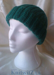 Image is loading Classic-Easy-Knit-Ribbed-Hat-Knitting-Pattern-Adults- 53d54c79812