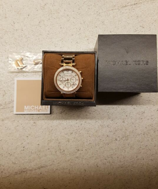 Michael Kors MK5491 Rose Gold Parker Chronograph Ladies Watch - GOOD CONDITION