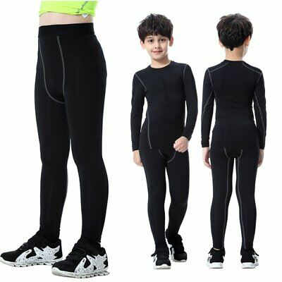 Compression Base Layer Toddler Kids Boy Long//Mid Skins Sport Pants Trouser New