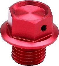 ZETA MAGNETIC OIL DRAIN PLUG BOLT RED CR85 CR125 CR250 XR250 XR400 M12X1.5