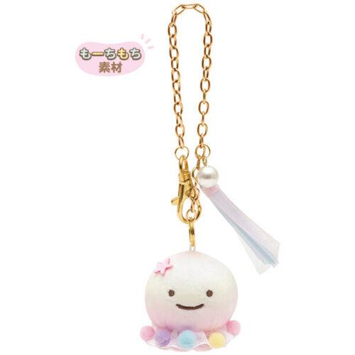 Jellyfish Super Mochi Soft Plush Keychain Rainbow Color San-X Japan Jinbe San