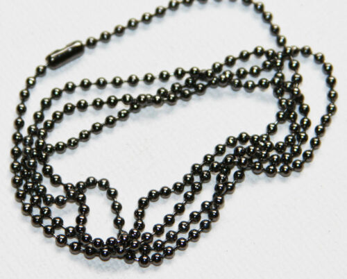 5 strands of 24 inch Gunmetal ball chain necklace