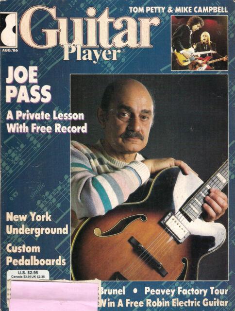 GUITAR PLAYER August 1986 JOE PASS Minor Matter TAB & RECORD Address Label GOOD