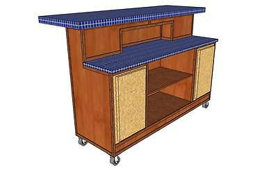 ROLL - AROUND BAR FOR PATIO, DECK OR BASEMENT (WOOD PLANS ONLY)