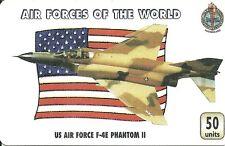 RARE / CARTE TELEPHONIQUE - US AIR FORCE PHANTOM USA / PAPER COLLECTOR PHONECARD