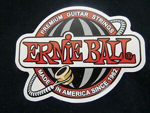 Ernie Ball Premium Cordes Guitare Case Rack Decal Autocollant Nice New Cool-afficher Le Titre D'origine