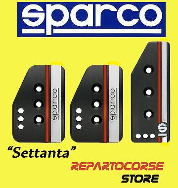 "cover pedali 037879OP01 Pedaliera originale SPARCO /""SETTANTA/"" Black"