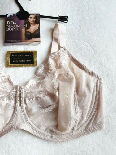 NEW M/&S DD MAXIMUM SUPPORT WITH COMFORT STRAPS FULL CUP BRA 40E in ALMOND