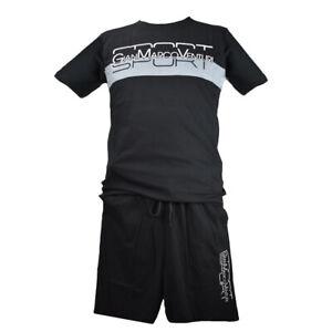 Completo-Uomo-GianMarco-Venturi-Cotone-T-Shirt-Manica-Corta-Pantaloni-Corti