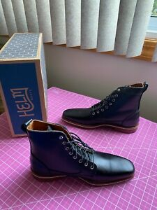men's helm deacon black boots narrow toe casual/dress