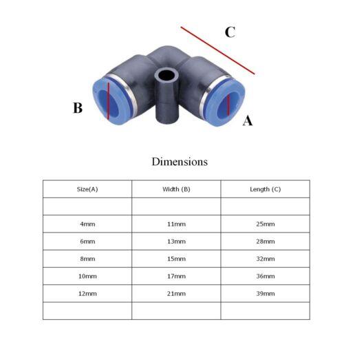 Égal Coude Connecteurs vitesse Push Fit pour pneumatique AIRLINE Water /& tuyaux de carburant