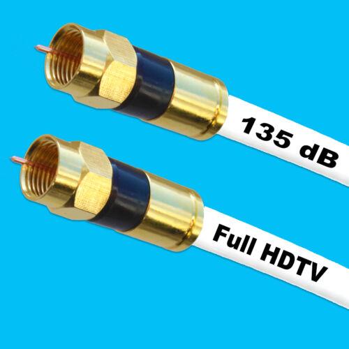 Profi HQ Antennenkabel Digital TV Kabel 135dB SAT F-Stecker VERGOLDET HD3D Cable