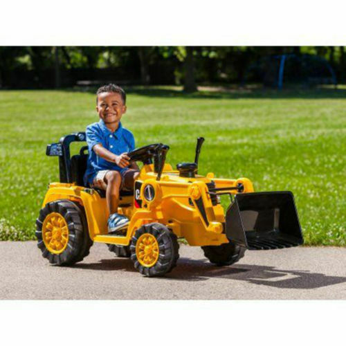 6V Battery Powered Tractor Toddler Bulldozer Excavate Electric Kid Ride On Toys