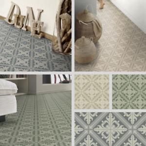 Turkish Tile Effect Sheet Vinyl Flooring Cushioned Lino