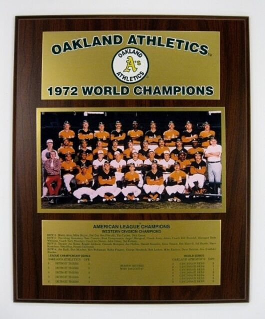 Oakland Athletics 1972 World Series Championship Plaque by Healy Awards