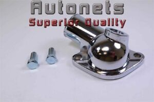 O-ring 45º Block Water Neck Thermostat For Chevy SBC BBC Chrome 265 283 305 400