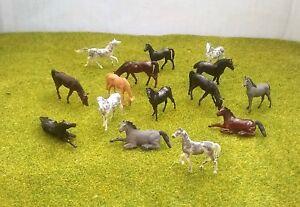 1:87 Scale Ho/oo Gauge 00 Model Railway Painted Horses - Pack Of 3 Or 6 CéLèBre Pour Ses MatièRes PremièRes De Haute Qualité, Sa Gamme ComplèTe De SpéCifications Et De Tailles, Et Sa Grande VariéTé De Dessins Et De Couleurs