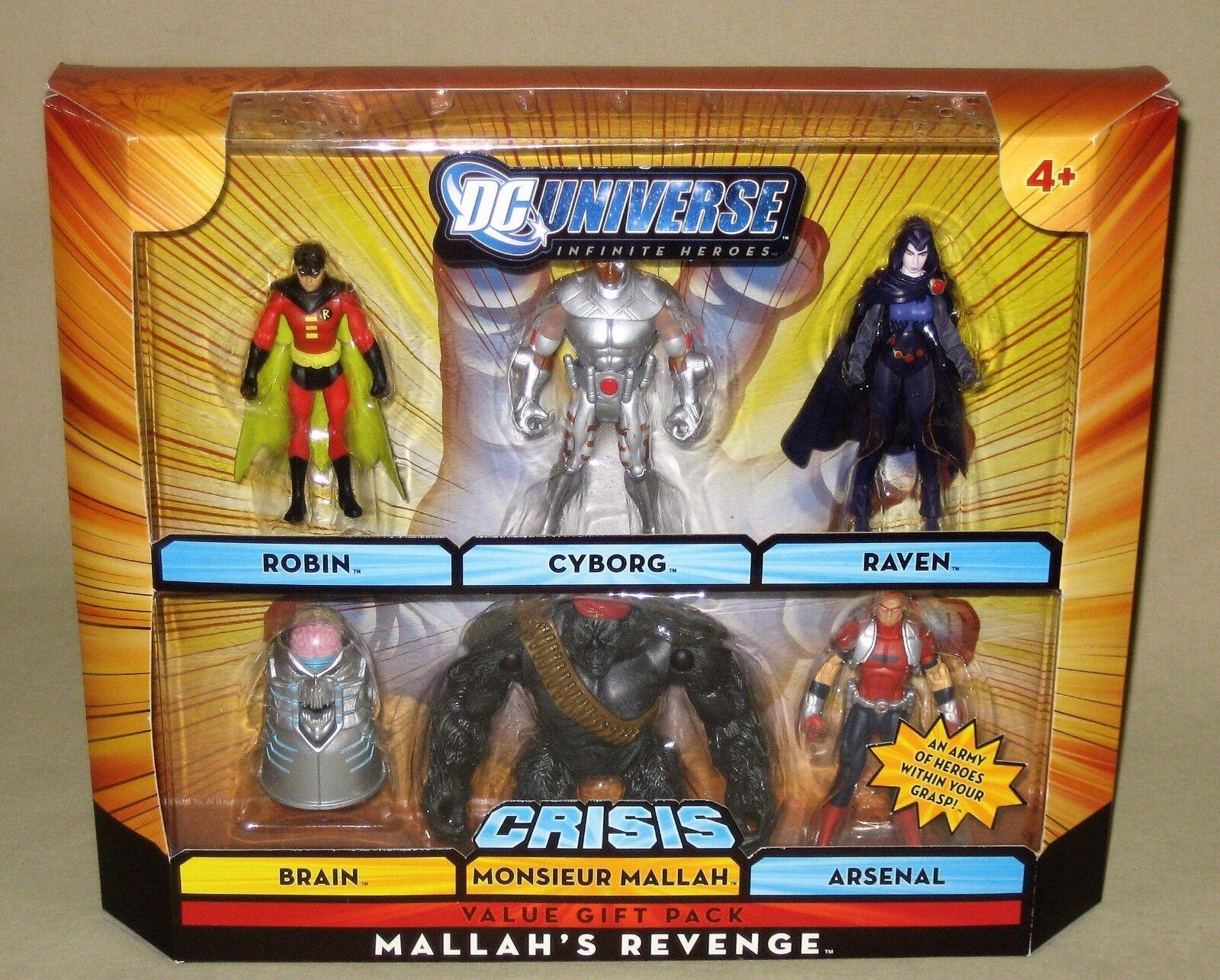 DC Universe Infinite Heroes Mallah's Revenge Robin Cyborg Raven Teen Titans NIP