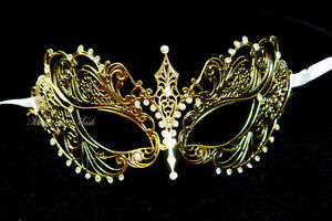 Laser cut Metal filigree Prom Costume Party Venetian Masquerade Ball Girl Mask Clothing, Shoes & Accessories