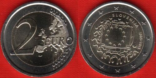 """Slovenia 2 euro 2015 /""""Flag of Europe/"""" BiMetallic UNC"""