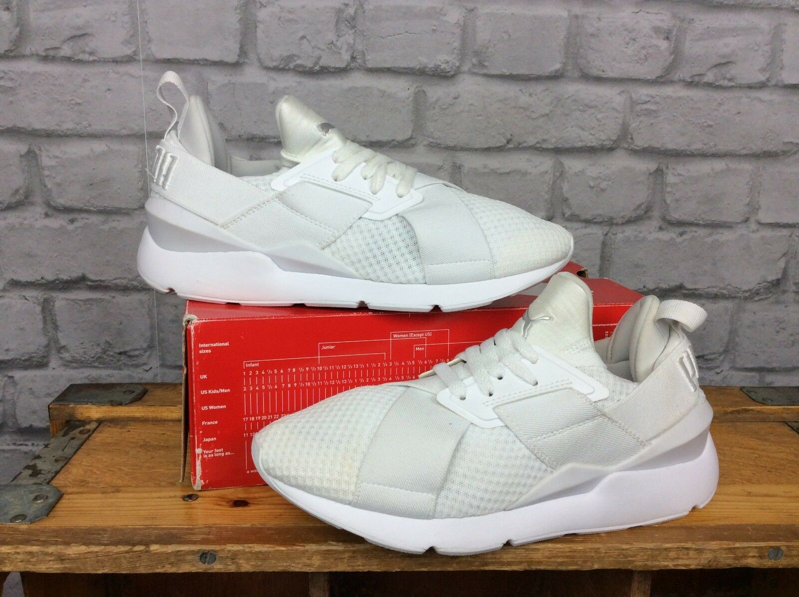 PUMA LADIES WHITE MESH MUSE X-STRAP EP RUNNING TRAINERS RRP