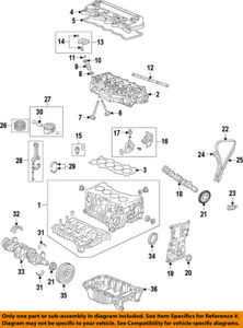 image is loading honda-oem-engine-crankshaft-crank-main-bearing-13325rb0003