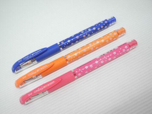 Blue /& Pink /& L.Green UNI-BALL Sakura Pattern UM-151 0.38mm rollerball pen Japan