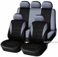 Auto Sitzbezug Sitzbezüge Schonbezüge Set Grau Komplettset Y für Nissan KIA