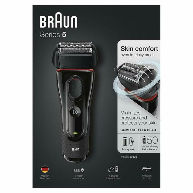Braun Series 5 5030 s Afeitadora Eléctrica Hombre Recargable e Inalámbrica