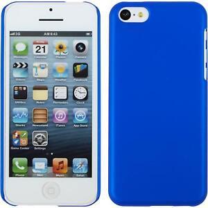 Custodia-Rigida-Apple-iPhone-5c-gommata-blu-pellicola-protettiva