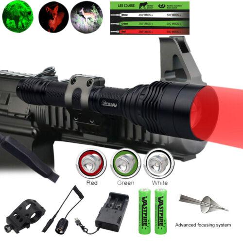Green Red LED Bulb Coyote Hog Night Predator Varmint Hunting Light Zoomable Lamp