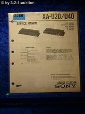 Sony Service Manual XA U20 / U40 Source Selector  (#2986)