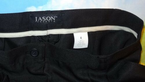 SIZE 4 Ladies Black Dress Pants by Jason Fredric UN-HEMMED 100/%Polyester 3 Pair
