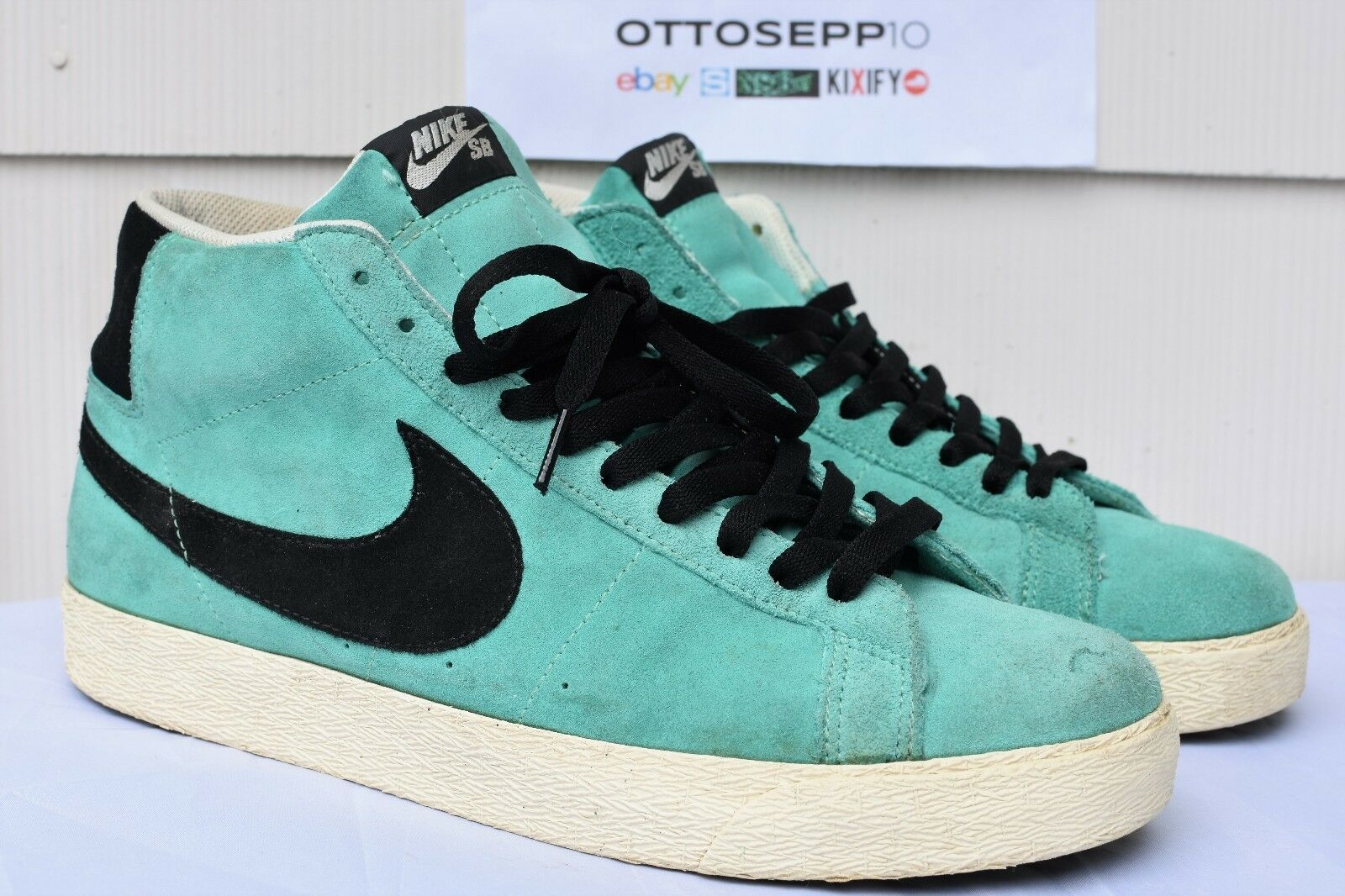 2008 11 NIKE SB Azure Sea Crystal aqua black teal suede vtg high dunk 310801 401