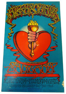 Details about BGP BIG BROTHER SANTANA Fillmore West POSTER (9-12-68) 1st  PRINTING Rick Griffin