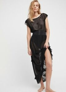 free people intimately sheer black corset is maxi slip