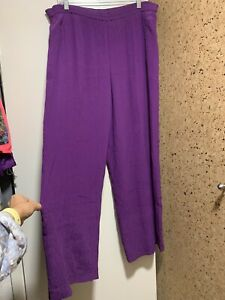 NWOT Dana Buchman Lined 100% Silk Wide Leg Pants Sz 10