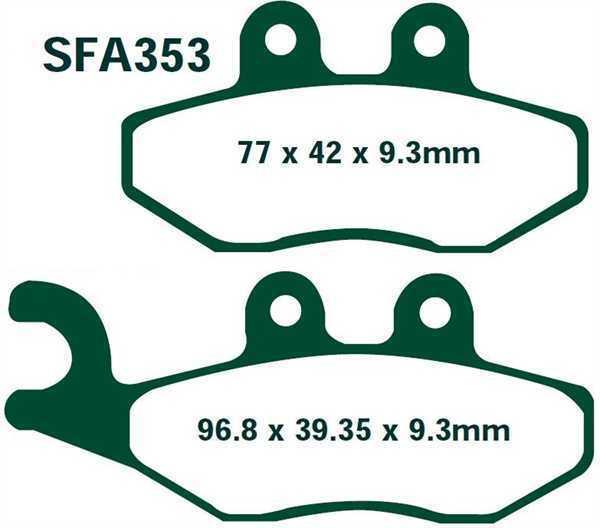EBC Bremsbeläge SFA353 VORNE PIAGGIO X8 125 04-05