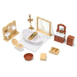 112 scale dollhouse miniature bathroom furniture set