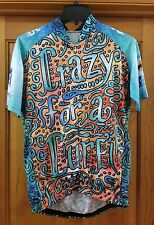 "Vomax Bicycle Cycling Jersey Size L Large ""Crazy for a Cure"" Bike MS"