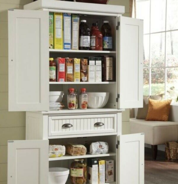 Home Styles 5022 69 Nantucket Pantry Distressed White Finish For Sale Online Ebay