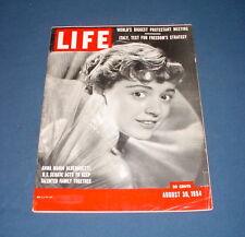 LIFE MAGAZINE AUGUST 30 1954 ANNA MARIA ALBERGHETTI DRAGNET NEIMAN MARCUS