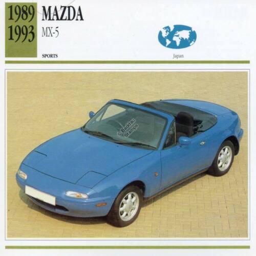 1989-1993 MAZDA MX-5 Sports Classic Car Photo//Info Maxi Card