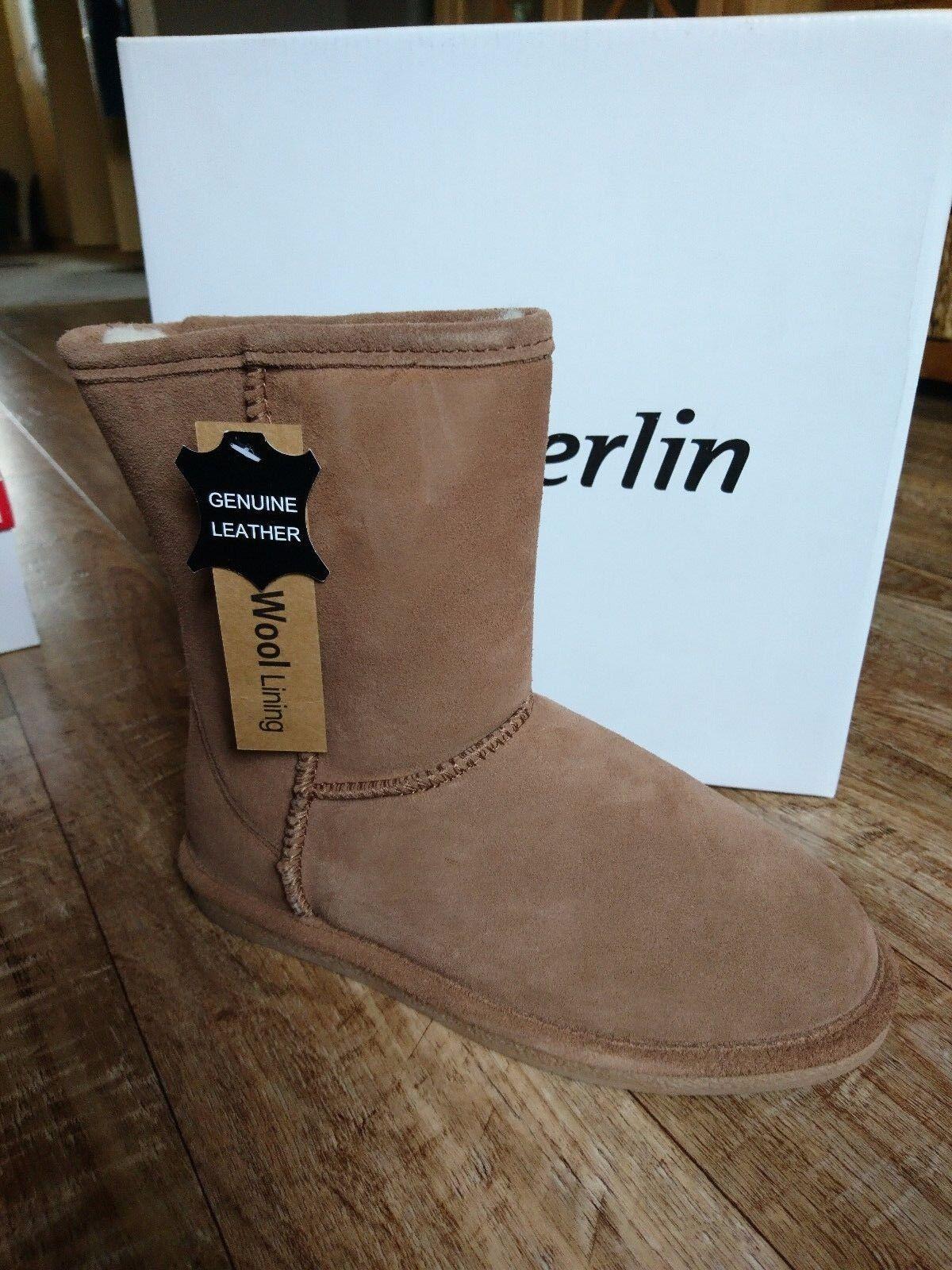 botas de invierno 030 Berlín botas señora botas marrón caliente forraje nuevo