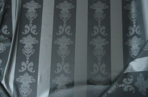 2492 Gardinen Stoff Vorhangstoff Dekostoff Barock 295cm hoch in grau Nr