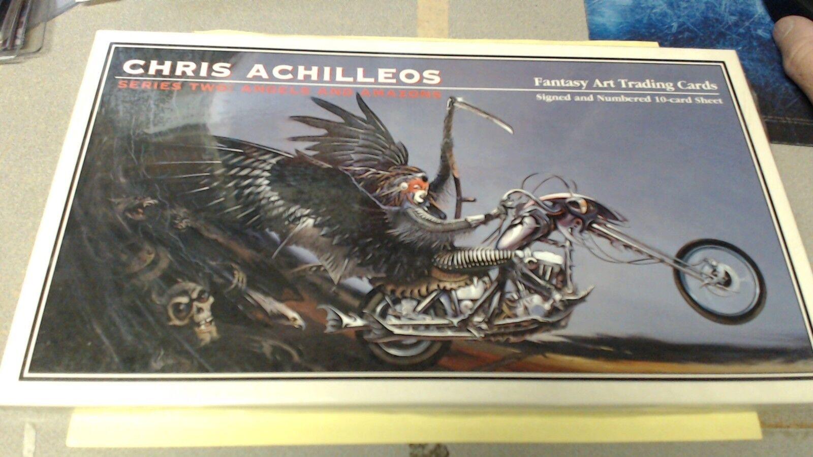 CHRIS ACILLEOS fantasi konst TRADING SERIER TVÅ  ANGELER OCH AMAZON NY