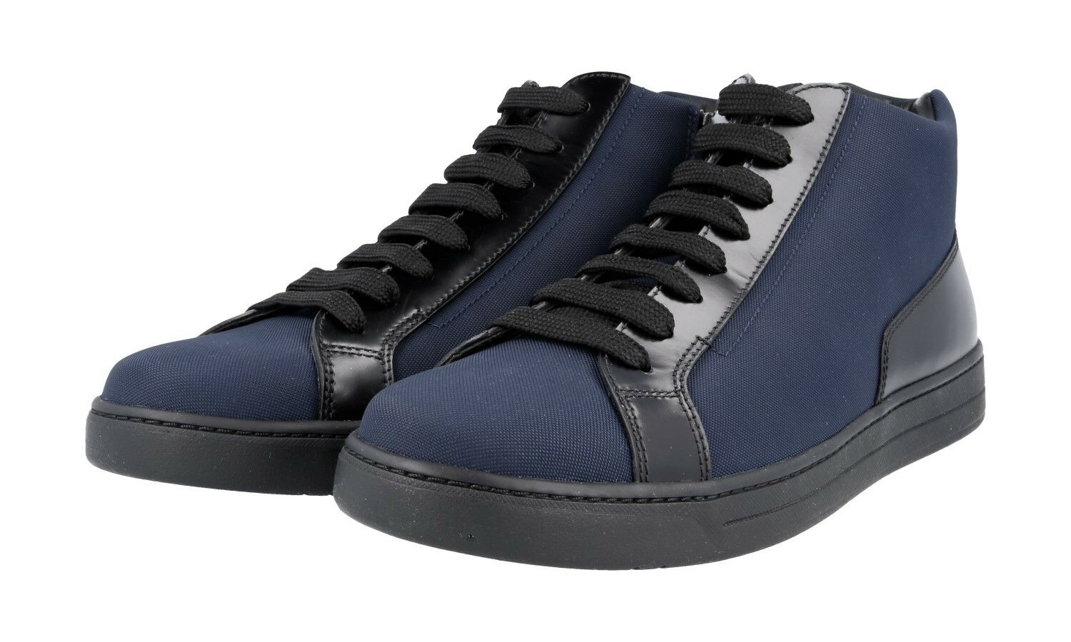 LUXUS PRADA HIGH TOP SNEAKER Zapatos 4T2998 BLAU 43 NEU NEW 8,5 42,5 43 BLAU 4bef75
