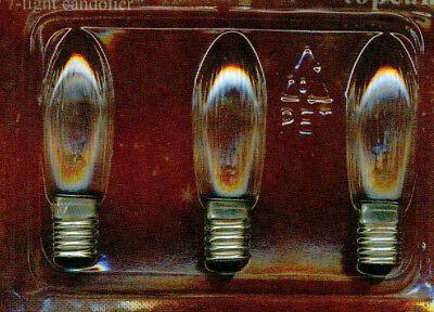 3W E10 Birne Kerzen Lampe Glühbirne Leuchtmittel Riffelkerze 3er Set 46V